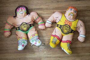"Vintage Tonka WWF 22"" Wrestling Buddy Hulk Hogan Ultimate Warrior 1990 WWE NWO"