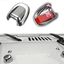 2x Water Spray Nozzle Sprinkler Head Wiper Cover Trim For Jeep Wrangler JK 07-17