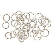 40pcs 925 Sterling Silver Jump Rings Split Rings Jewelry Connector 4mm 6mm