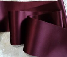 """1-1/2"""" SWISS DOUBLE FACE SATIN RIBBON - DARK RUBY RED"""