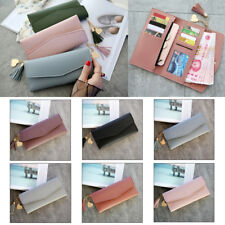 Women's Leather Clutch Wallet Long Purse Card Holder Case Love Trifold Handbags