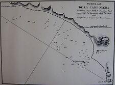 MOUILLAGE DE LA CARBONERA ,1862, GAUTTIER, PLANS PORTS RADES MER MEDITERRANEE