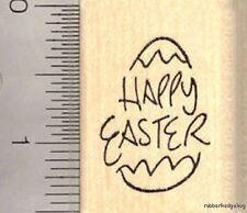 Happy Easter Egg Rubber Stamp D12904