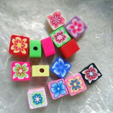 Multi-couleurs PETIT PAVE 4//7 mm Trou 1//1,5 mm 13 Perles FIMO POLYMÈRE