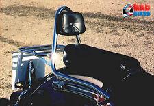 Renntec portadoras de rack con respaldo para Yamaha XVS650 Dragstar-Cromo REN10202