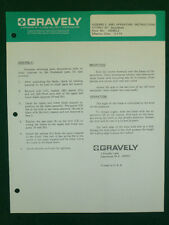 "GRAVELY 42"" SNOWBLADE ASSEMBLY MANUAL #17170E1"