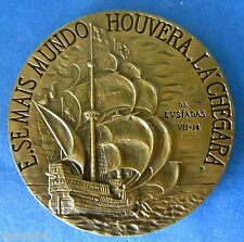 CARAVEL / CAMOENS / CAMÕES / THE LUSIADS / POET / BONZE MEDAL BY MOURA M.15a