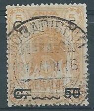 1916 SOMALIA USATO LEONE 5 CENT SU 50 SU 5 A  - RR2691