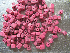 Dyed Pink Marble Gemstone Beads Odd Shaped Cube Bead  about 150 nugget chips