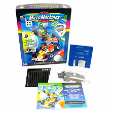 Micro Machines for PC by Codemasters, 1991, Big Box, Racing, Top-Down