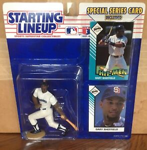 1993 Gary Sheffield San Diego Padres Starting Lineup in pkg w/ 2 Baseball Cards