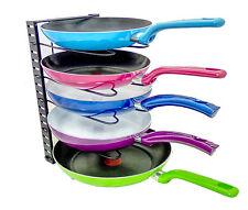 Adjustable Pan Rack Pot & Lid Holder Organizer - Pot & Lid Rack Cookware Holder