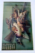 1907 AUGUST LAUX CALENDAR - D.H. BITTINGER SAWMILL - GAME BIRDS - WOOD DUCK