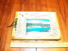 Vintage Souvenir Leather Cover Photo Album LEGION LAKE RESORT - BLACK HILLS, SD