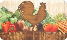 "ANTI FATIGUE KITCHEN CUSHION MAT (18""x30"")(Not PVC) ROOSTER & FARM VEGGIES,SS"