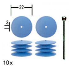 10 DISCHETTI IN SILICONE FORMA LENTICOLARE 22 mm PROXXON COD. 28293
