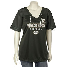 NFL GREEN BAY PACKERS WOMENS #12 AARON RODGERS BLACK JERSEY MEDIUM (small fit)