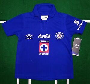 Deportivo Cruz Azul jersey Local/Home boys youth Umbro blue size 6 NWT