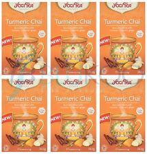 Yogi Tea Curcuma Chai - 17 Intercalaires (Pack de 6)