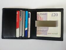 Premium Quality Real Soft Leather Slimline Money Clip Card Holder ID Oyster