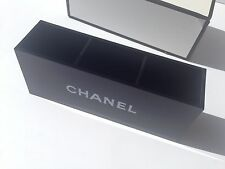 Chanel VIP Gift Black Glossy Makeup Brush Holder Cosmetic Organizer 3 Slots