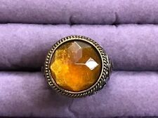 Lucky Brand Buddha Ring with center Citrine colored stone size 7
