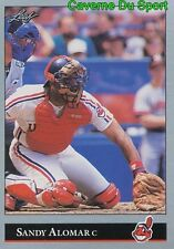 009   SANDY ALOMAR JR.    CLEVELAND INDIANS  BASEBALL CARD LEAF 1992