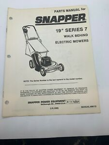 Snapper Battery Walk Behind Lawn Mower Lawn Mowers For Sale In Stock Ebay