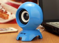 Blue Mini USB Portable 3.5mm Stand Bass Lound Speaker For TV Laptop PC Phone MP3