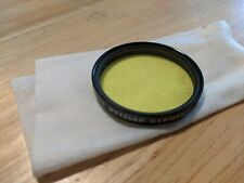 Genuine Leica Yellow Color Filter E39 Black