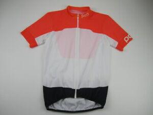 Mens Large Poc full zip orange white navy cycling jersey