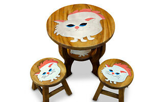 Children Table Set Room Furniture Solid Wood Animal Motif Children's Table+2