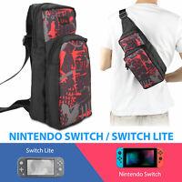For Nintendo Switch/ Lite Carrying Case Shoulder Bag Travel Protective Backpack