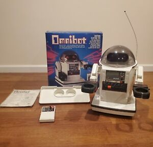 1984 Tomy Omnibot No.5402 in Box with Remote & Charger - Working New Batteries