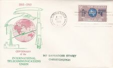 NZFD1012)NZ 1965 100th Anniversary Of International Telecommunications Union FDC