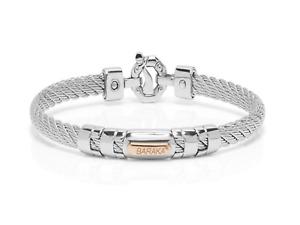 BARAKA Bracciale oro rosa 18kt Diamante acciaio BR33206 bracelet