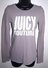 Juicy Couture Size Small Womens Gray Sequin Long Sleeve Top