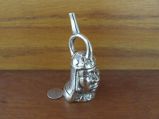 Peru Aztec Mayan Artist Made Figural Face Mask Cast Sterling Silver 925 Bell 3oz
