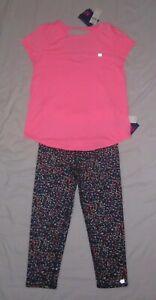 NWT Girls GAPFIT Workout T-shirt & Capri Leggings Outfit - size XL-12
