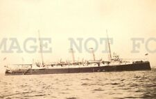 1902 Hms Aurora Uk Battleship Military Montevideo photo postcard returning China