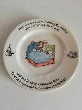 "Peter Rabbit Wedgwood Of Etruria & Barlaston Plate Approx 7""..VGC"