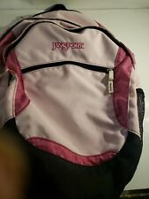 Jansport Pink Backpack 4 zippers head phone nice bag