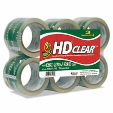 Duck Heavy Duty Carton Packaging Tape 3 X 55 Yards Clear 6pack Duc0007496