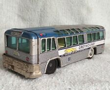 Vtg Greyhound Bus Destination New York Tin Toy Friction Toy Japan Pics Used