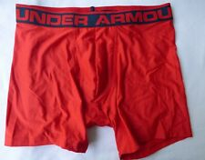 Under Armour Mens Boxer Brief Heat Gear Brand New without tags M  Red  6 inch
