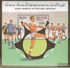 Laos Bloque 109 (completa edición) nuevo con goma original 1982 Fútbol-WM 1986,