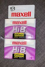 BRAND NEW 120 minute Videocassette by MAXWELL Hi8 / 60 Minute Digital 8 - P6-120
