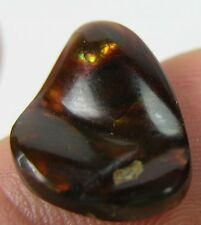 #12 5.90ct Mexico 100% Natural Raw Rough Cab Fire agate Crystal Specimen 1.15g