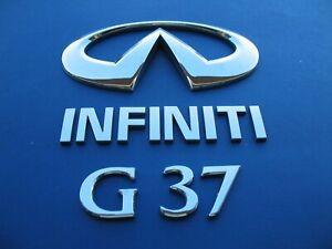 08 09 10 11 12 13 INFINITI G37 COUPE REAR LID EMBLEM LOGO BADGE SIGN USED #1789