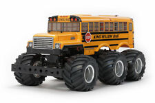 Tamiya 58653 King Yellow School Bus 6x6 - DEAL BUNDLE with STEERWHEEL Radio
